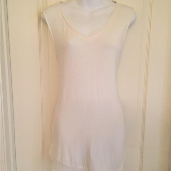 5de7338f White House Black Market Tops | Whbm Offwhite Asymmetrical Tunic ...